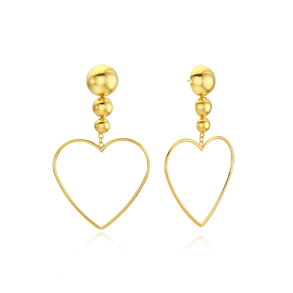 Glam Ball Heart Drop Earring