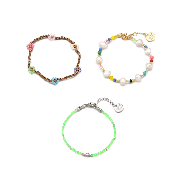 30%[5월 29일부터 순차출고][3SET]Juicy Fruity Bracelets