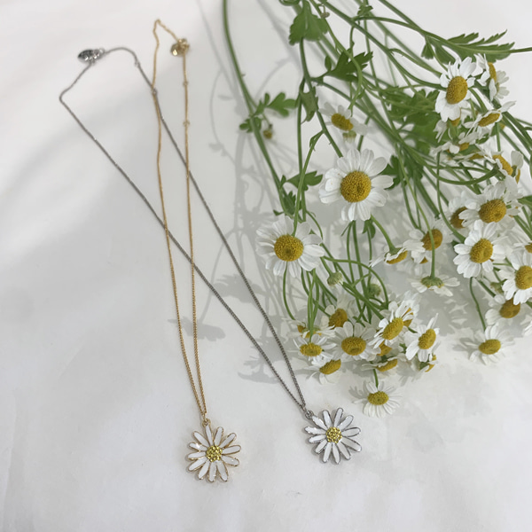 [5월 29일 부터 순차발송]Vintage Daisy Necklace_2Color