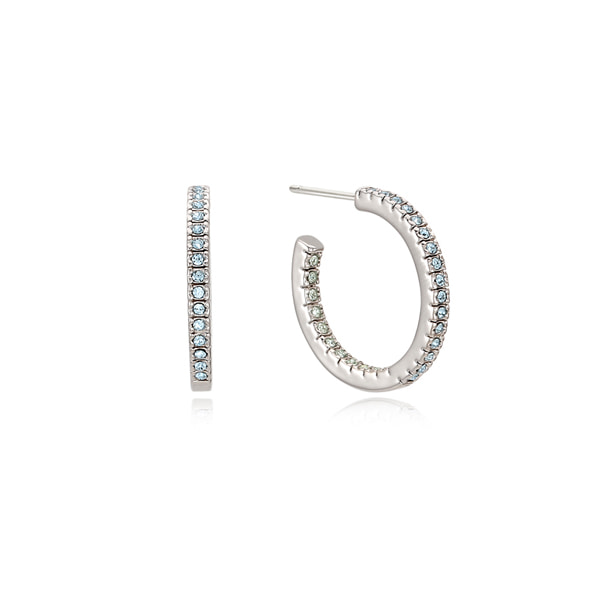 Daily Crystal Hoop Earring_Blue
