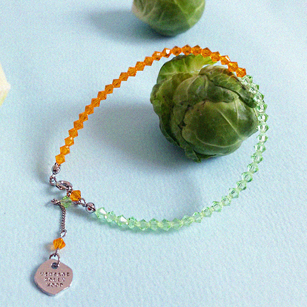 Color Spread Beads Anklet_Orange